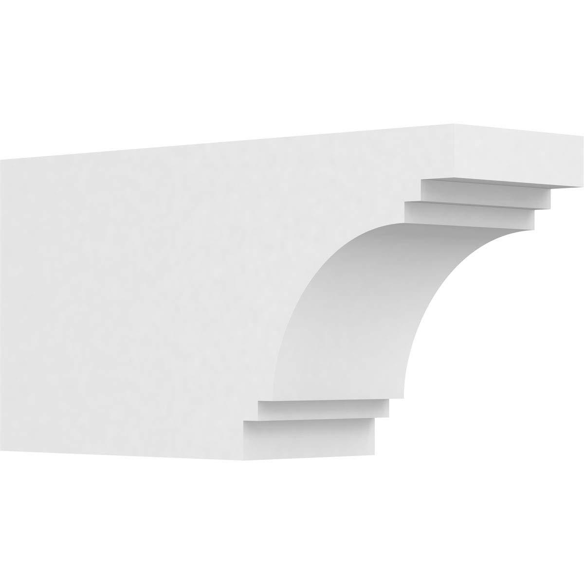 Ekena Millwork RFTP05X08X16PEC Pescadero Architectural Grade PVC Rafter Tail, 5''W X 8''H X 16''L, Unfinished by Ekena Millwork