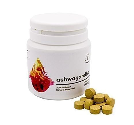Ashwagandha withania somnifera schlafbeere CEREZAS Invierno Extracto COMPRIMIDOS 100g CA 200 Tabletas