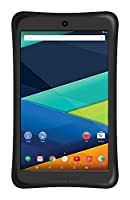Prestige ELITE A8Qi - 8-inch IPS INTEL AtomX3 QuadCore 16GB Android 5.1 Lollipop Tablet with Safety Bumper included - Black