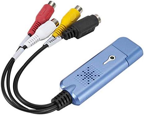 Cutogain Convertisseur de fichiers VHS vers num/érique USB 2.0 vers Video Grabber pour Ordinateur TV Box