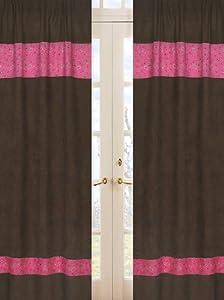 Western Cowgirl Window Treatment Panels by Sweet Jojo Designs - Bandana Print and Chocolate Microsuede - Set of 2 by Sweet Jojo Designs