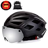 Cheap KINGBIKE Bike Helmet Bicycle Helmets Cycling for Adults Men Women Youth Detachable Magnetic Visor Shield Goggles UV4000 Protection LED Rear Light MTB Road Commute Street Specialized (Black)