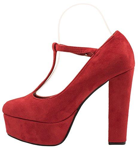 Elara - Plataforma Mujer Rojo