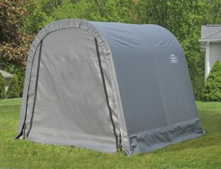 Round Shed (ShelterLogic Ultra Shed - Round Style, 8Ft.L x 8Ft.W x 8Ft.H, Model# 76803)