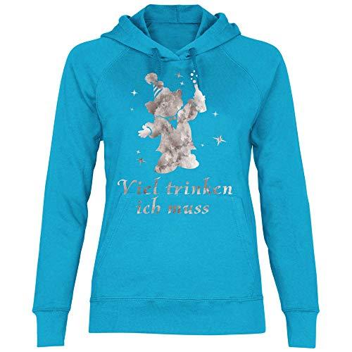 Molto Cappuccio Azure Bevo Con Shirt Royal Must Felpa Donna Blue qw4XXf7