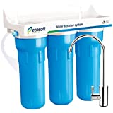 Ecosoft 3 Stage Under Sink Water Filter Purification System For Clean and Healthy Drinking Water