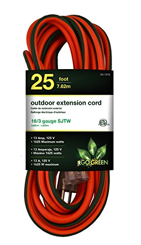 outdoor extension cord 25 ft - 6