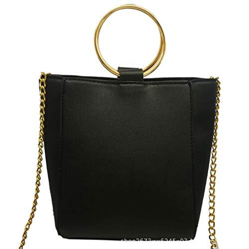 Colore NERO Borsa colori di di spalla PU da singola cm 19 diagonale moda classica 12 22 2 alta Borsa qualità pacchetto donna g1xRwrZqg