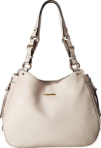 Calvin Klein Women's Classic Pebble Hobo White Handbag by Calvin Klein