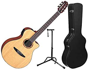 yamaha ntx700 ntx acoustic electric classical guitar w hard case and stand musical. Black Bedroom Furniture Sets. Home Design Ideas