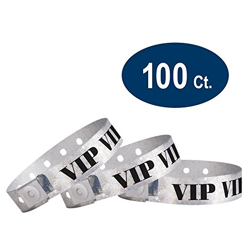 WristCo Holographic Silver Plastic Wristbands product image