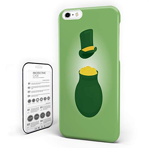 iPhone 6 Case/iPhone 6s Case Spring Festival Design Hard Plastic PC Ultra Thin Protective Phone Case Cover Compatible iPhone 6/6s (4.7 inch) Leprechaun Hat and Pot Coin for St. Patrick's Day ()