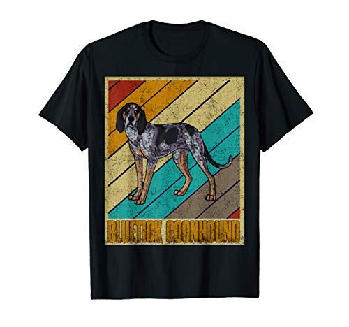 Bluetick Coonhound Dog Shirt Retro Vintage Novelty Birthday