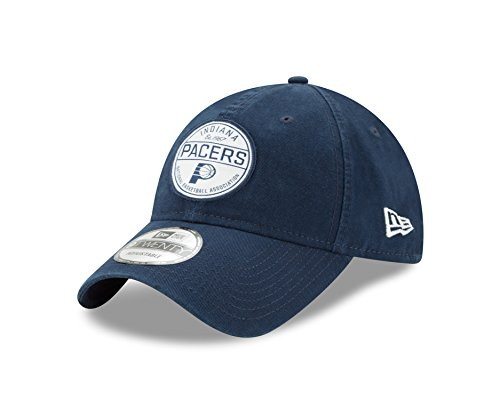 NBA Indiana Pacers Adult Core Standard 9TWENTY Adjustable Cap, One Size, - Standard Size Hat