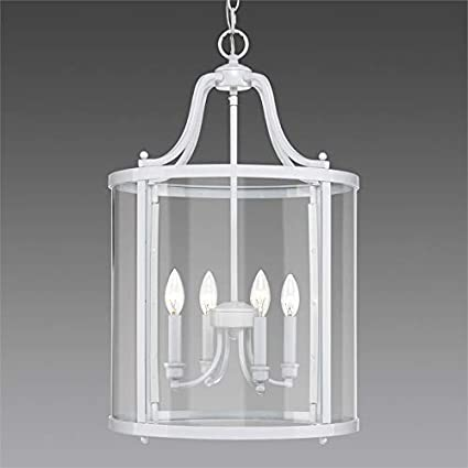 Amazon com: Beaumont Lane 4 Light Pendant Light in White with Clear