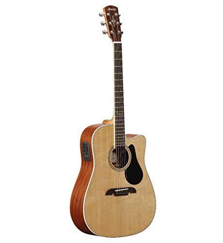 - Alvarez Artist Series AD60CE Dreadnought Acoustic - Electric Guitar, Natural/Gloss Finish