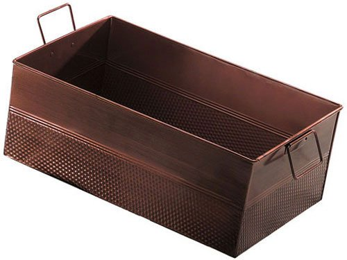 American Metalcraft BEV1220 Rectangular Hammered Tub, Copper, 20 1/2-Inch Length (Full-Size)