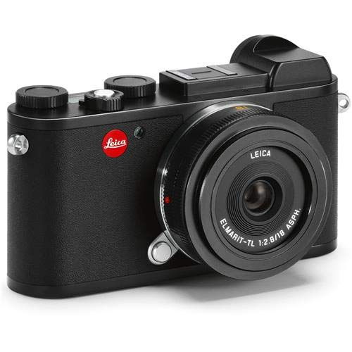 Leica CL Mirrorless Digital Camera, Black 18mm F2.8 ELMARIT-TL Aspherical Pancake Lens, Black
