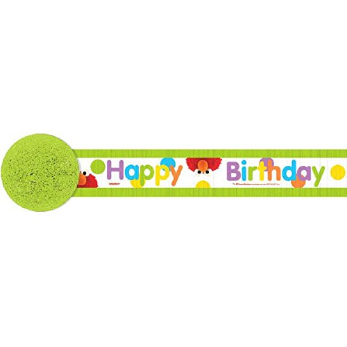Sesame Street Birthday Decoration Ideas (Amscan Sesame Street Birthday Party Happy Friends Crepe Streamer Decoration, Multicolor, 30')