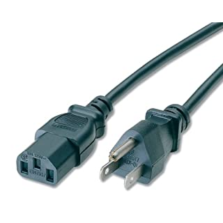 C2G 03131 Standard Power Cable, 5-15P to C13, 14 AWG, 6ft Black