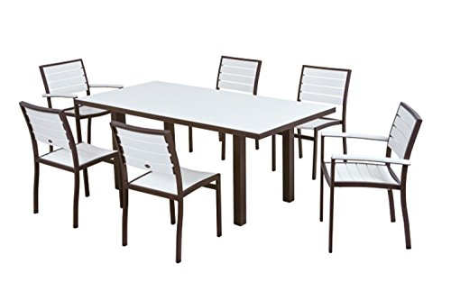 Outdoor Patio 7 Piece White Dining Chair and Table Set  : 41ZmDdyN2B9L from greenankles.com size 500 x 333 jpeg 21kB