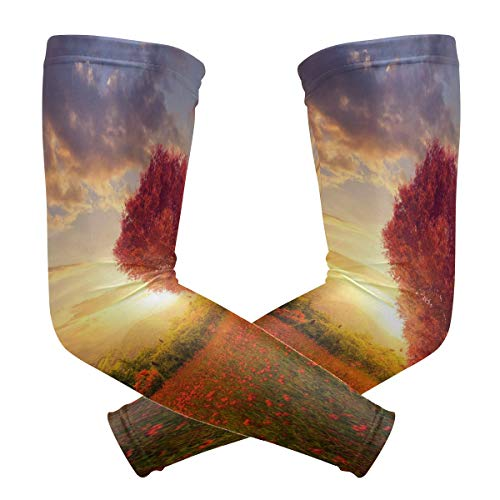 Arm Sleeves The Love Of God Mens Sun UV Protection Sleeves Arm Warmers Cool Long Set -