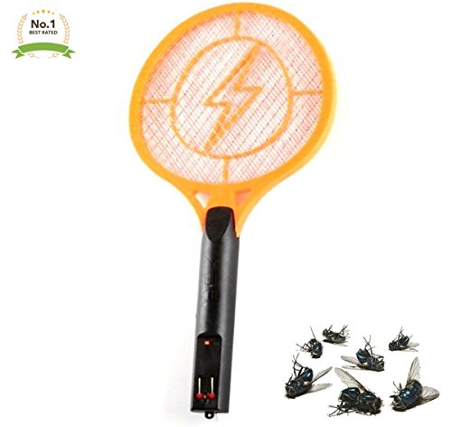 LavoHome Rechargeable Bug Zapper Zaps Racket Fly Swatter Mosquito Killer - Best Indoor & Outdoor Pest Control 1.2V Batteries by LavoHome