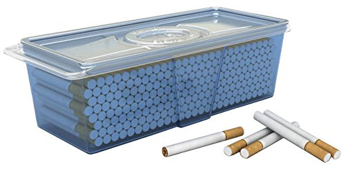 Plastic Container Safely Stores 220 Count Carton of Cigarette Filter Tubes