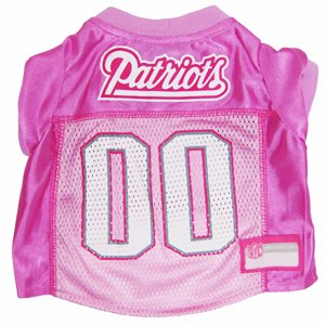 NFL New England Patriots Dog Jersey Pink, Large. - Football Pet Jersey in Pink