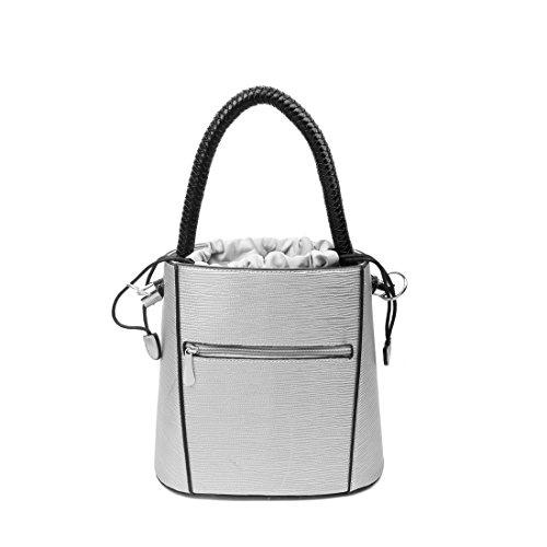 27x26x14 Cm lxaxp Bag couture Donne L'argento Tote Obc Gray Solo bella Per Ca Placcato P7nwAqv