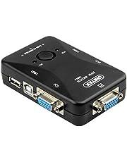 سويتش كيبورد وفيديو وماوس عالي الدقة HD بمنفذين USB2.0 ومنفذين للكمبيوتر ومنفذ للكيبورد والماوس