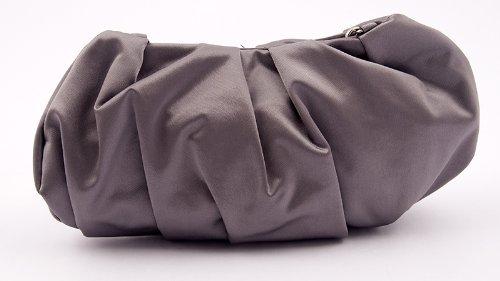 Pochette, Ivettegris,satin, Dimensions en cm: 27 L x 12 H x 3 p