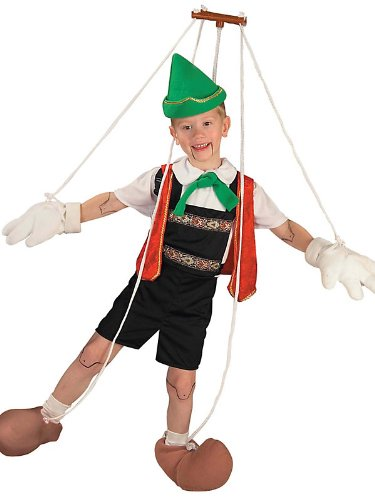 Forum Novelties Pinocchio Puppet Child Marionette Costume - Large (Pinocchio Marionette)