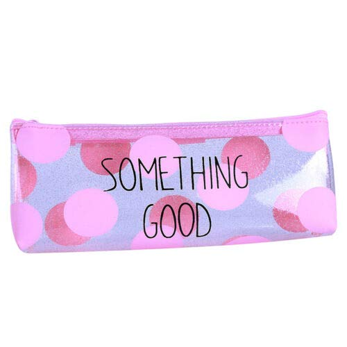 Storage School Stationery Supplies Creative Pink Pencil Bag Large Capacity QP (Model - #1) ()