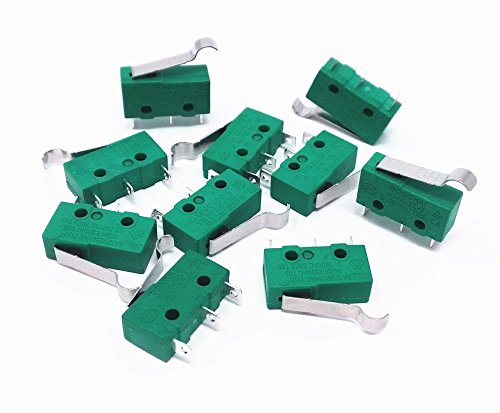 Honbay 10pcs KW4-3Z-3 AC 125V 5A Micro Limit Switch Hinge Lever for Mill (Micro E/z Hinge)