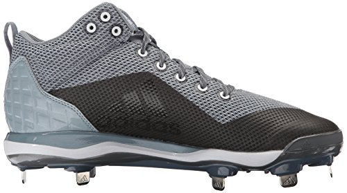 adidas Performance Herren PowerAlley 5 Mid Baseballschuh Onix, Silber Met., Hellgrau
