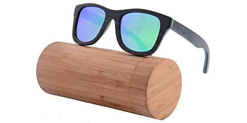 SHINU Handmade Wood Glasses Anti-Glare Polarized Wooden Sunglasses- Z68003 1 NATURAL WOOD-Genuine Wood Bamboo from Sustainable Resources. POLARIZED LENSES-Polarized UV400 Lenses Against Harmful UVA/UVB Rays. HIGH END HANDICRAFTS-Each Frame is Polished and Coated with A Water/Sweat Protective Layer.
