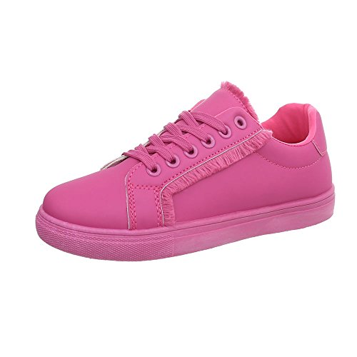 Rose Ital Low Sneakers Baskets design 37 Femme Espadrilles Chaussures Pointure Mode Plat waSwz