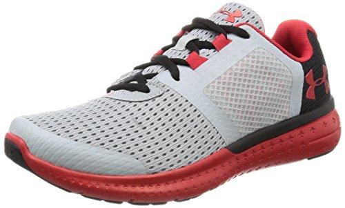 Under Armour Men's Grade School Micro G Fuel RN Sneaker, Overcast Gray (941)/Black, 6