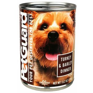 PetGuard Canned Dog Food Dinner Turkey and Barley -- 13.2 oz