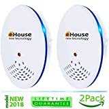 Ultrasonic Pest Repeller - Electronic & Ultrasound, Indoor Plug-In Repellent - Get rid of - Rodents, Mice, Rats, Squirrels, Bats, Insects, Bed Bugs, Ants, Fleas, Mosquitos, Fly, Spiders, Roaches!