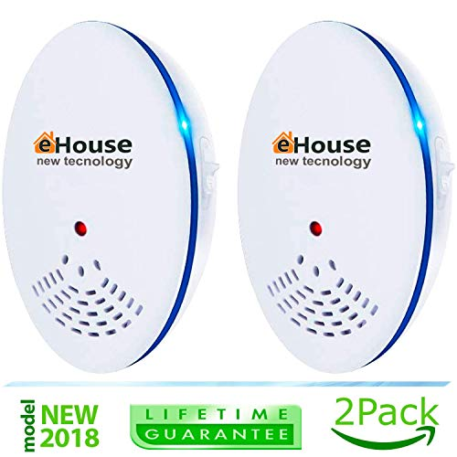 Ultrasonic Pest Repeller - Electronic & Ultrasound, Indoor Plug-In Repellent - Get rid of - Rodents, Mice, Rats, Squirrels, Bats, Insects, Bed Bugs, Ants, Fleas, Mosquitos, Fly, Spiders, Roaches