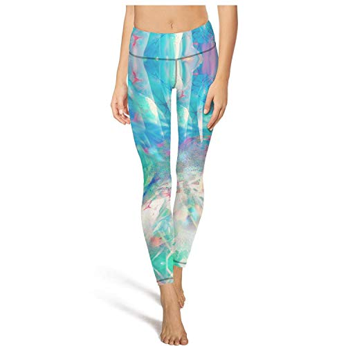 Classic high Waisted Leggings for Women Capris Yoga Pants Colorful Art Abstract Painting Footless Legging