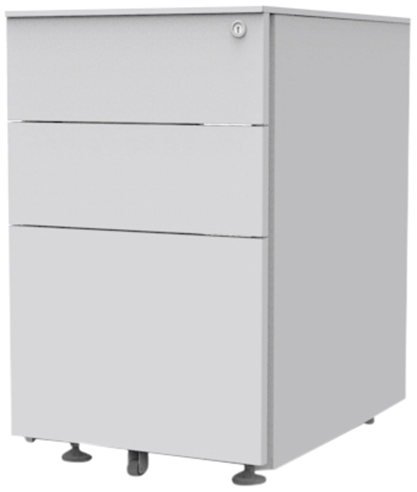 Simply Office PED595SLV 595 x 395 x 520 mm Under Desk Pedestal with 2 Personal/Filing Drawer - Silver/Grey