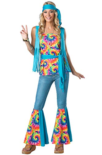 InCharacter Tie Dye Hippie Adult Costume-Large]()