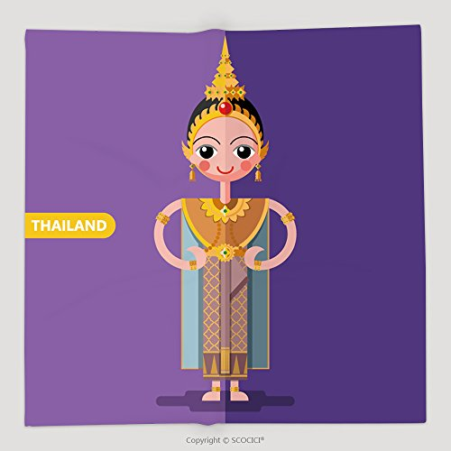 Thailand National Costume Female (Custom Thailand National Costumes In Flat Style 465805451 Soft Fleece Throw Blanket)