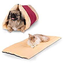 Pet Bed and Mat - Cuddly Self Heated - Washable Comfy House for Kittens, Cats, Dogs & Puppies - Best For Indoor, Outdoor and Traveling - Get The Most Warm Cozy & Comfortable Shelter for your Animal