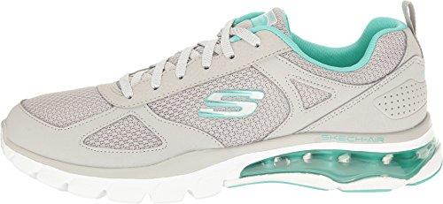 SKECHERS Womens Skech-Air Cloud Gray/Mint Athletic Shoe  n 35 US 5 UK 2