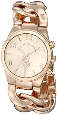 U.S. Polo Assn. Women's USC40070 Rose Gold-Tone Watch with Link Bracelet