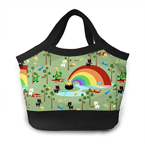 St Patricks Day Leprechaun Scary Unicorn Creepy School Lunch Box Pail Insulated Pack Accessories Ice Cooler Containers Tote Reusable Shopping Bag Hot Food Bento Warmer Prep Set Kit Decorations]()